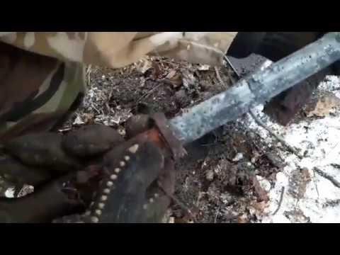 коп по войне в лесах Западной Украины /смотреть до конца / хр deus