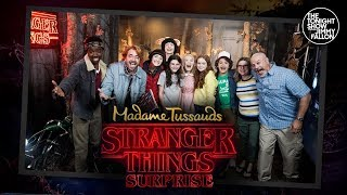 Stranger Things Cast Surprises Fans at Madame Tussauds Wax Museum