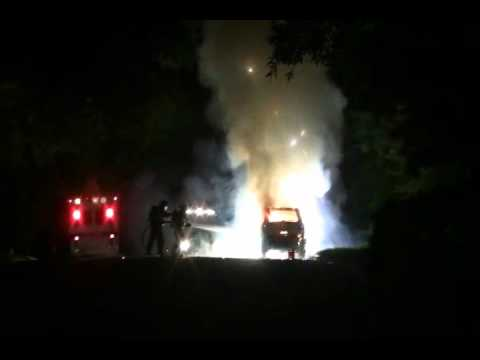 CAR FIRE TRAINING (Magnesium Explosion)