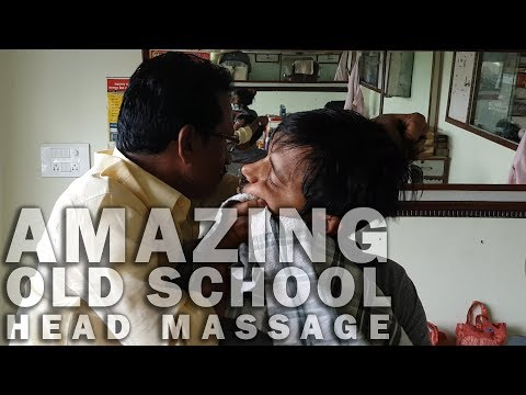 Must watch amazing old school barber head massage