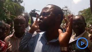 Governor Prof Anyang' Nyong'o joins kisumu protestors, demanding Chiloba to vacate office