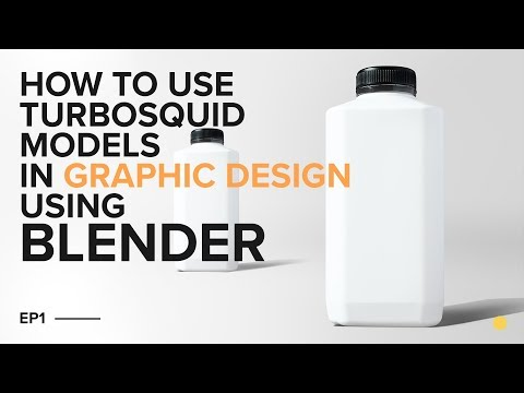 How to use Turbosquid models in Graphic Design using Blender [Tutorial]