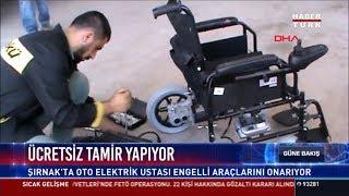 Engelli araçlarına ücretsiz tamir yapıyor