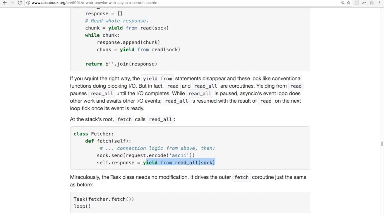 Part 8 of 8 - Python async I/O, generator, & coroutine walkthrough