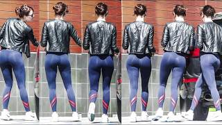 Emma Stone Sexy Ass in Leggings