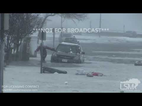 01-04-2018 Hull, MA - Woman drives car into flooded waters and gets stranded. - charles peek