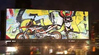 Billboard In Night City promotion video