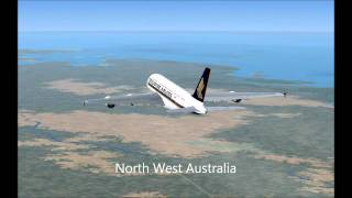 FSX Flight Sydney - Singapore Changi [Singapore Airlines A380]