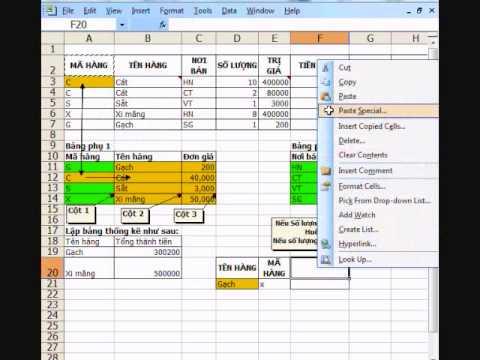 CCA Excel 6b - Vlookup - Điều kiện - Dsum - Rút trích - If