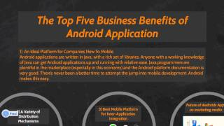 Top 5 Business Benefits of Android Application development | Brainvire