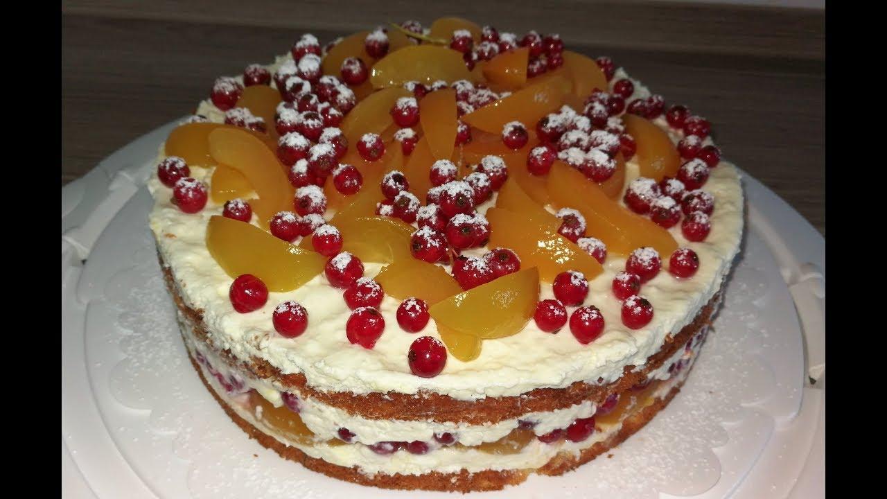 Aprikosen Marzipan Torte Naked Cake Youtube