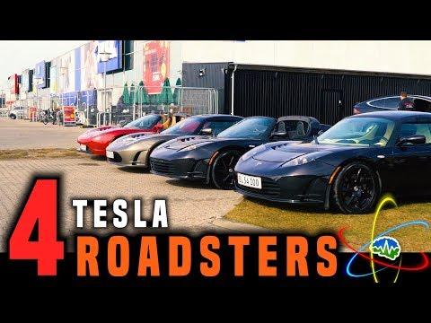 Driving 4 Tesla Roadsters through Copenhagen!!!
