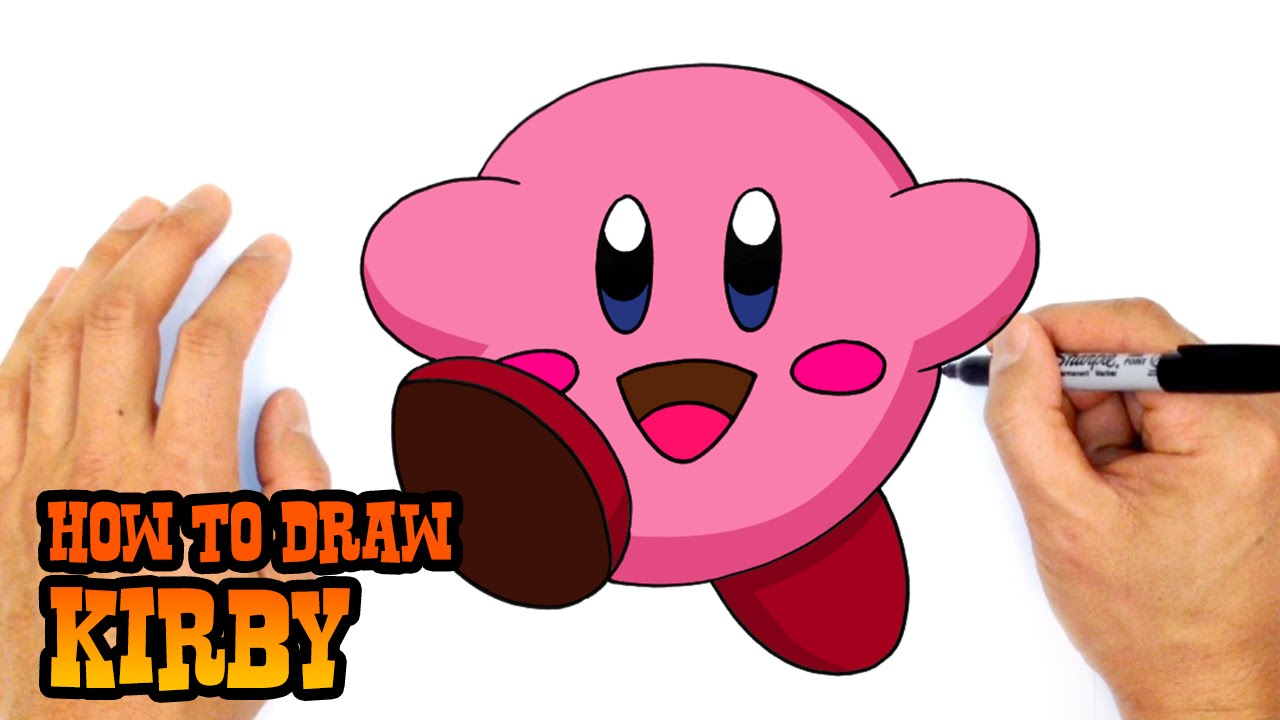 Create A Kirby Character Noll: Drawing Lesson - YouTube