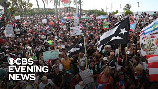 Thousands of protesters want Puerto Rico's governor to resign