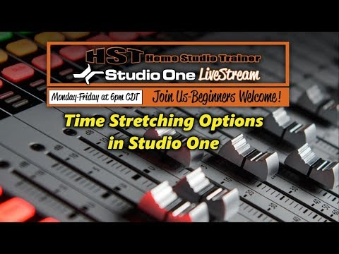 Time Stretching Options in Studio One