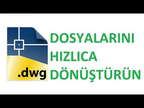 Autodesk DWG TrueView dosya dönüştürme