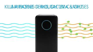 AC5350B How UV C Technology Works GermGuardian Elite 4 in 1 Digital Air Purifier 17 seconds