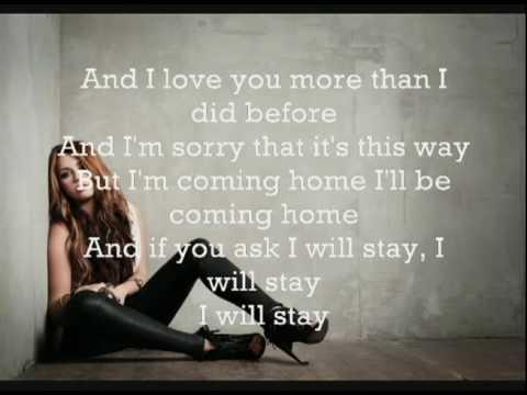 Stay - Miley Cyrus  +  Lyrics