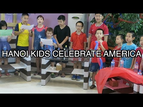 CELEBRATING AMERICAN 4TH OF JULY IN HANOI VIETNAM