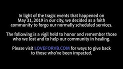 Virginia Beach, Vigil Service For Victims & First Responders