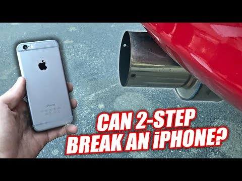 iPHONE vs. 1200hp SUPRA! (BENT & SHATTERED!)