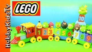 Lego Number Train Set ★angry Birds★ Box Open, Build, Play - Duplo (10558)