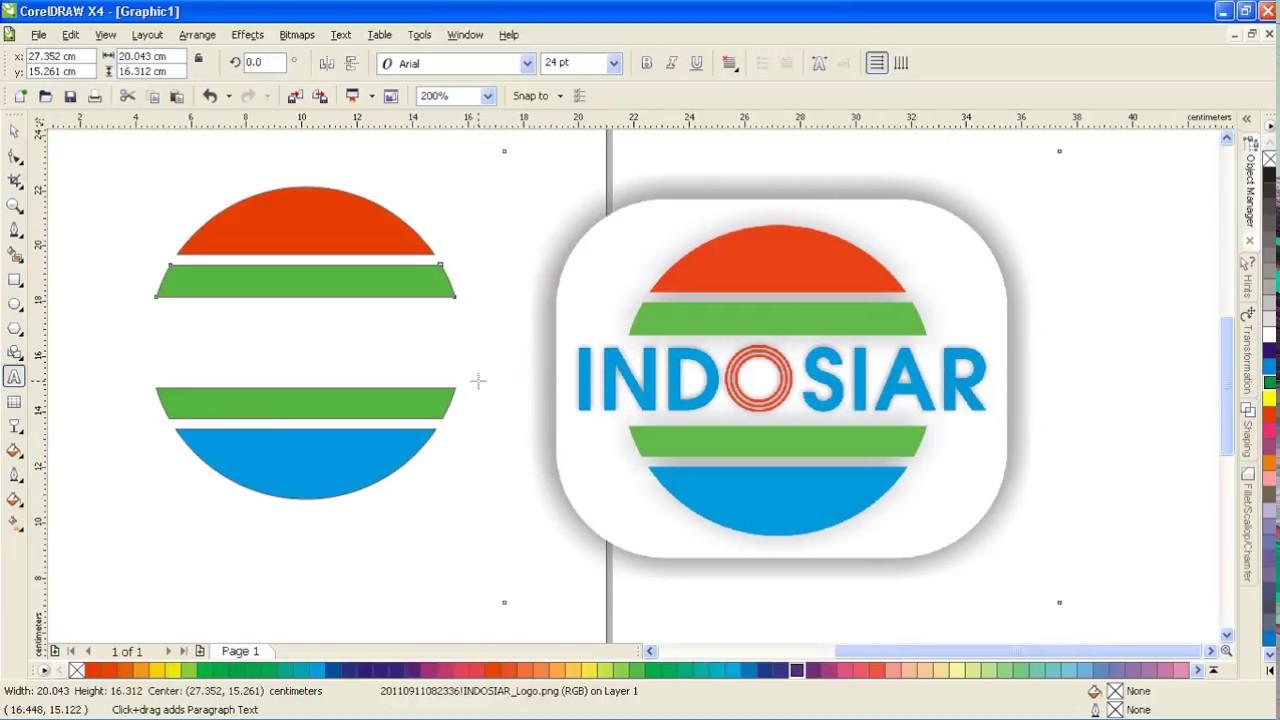membuat logo indosiar dengan corel youtube youtube