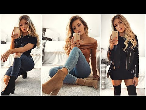 EVERYDAY OUTFITS WITH BOOTS! / Outfit Ideas 2018