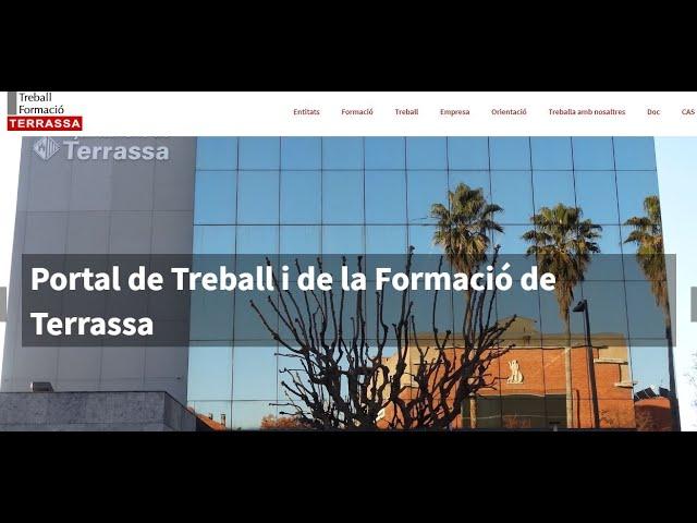 Tutorial sobre el portal Treball Terrassa en català
