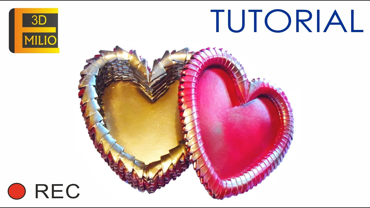 tutorial origami heart box corazon