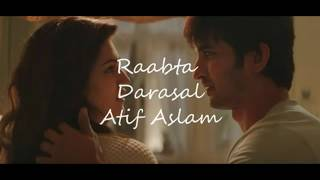 Darasal Song Atif aslam Raabta Karaoke With Lyrics Instrumental