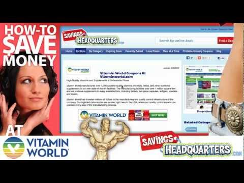 How-to Save Money At Vitamin World