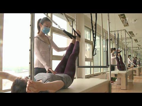 В Китае открылись для посещения фитнес-клубы и даже бассейны.