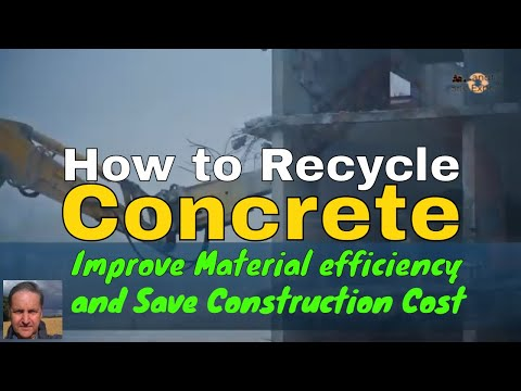 How To Recycle Concrete Improve Materials Efficiency And Save Money On Construction Works