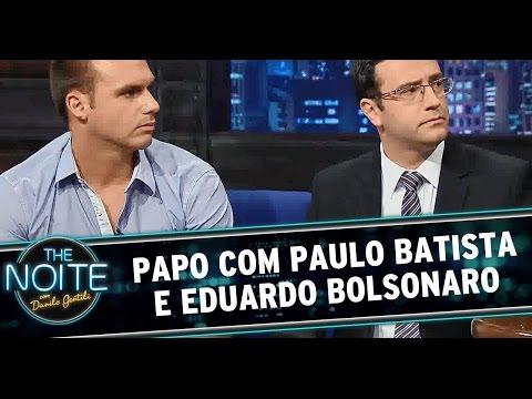 The Noite (04/11/14) - Entrevista com Paulo Batista e Eduardo Bolsonaro