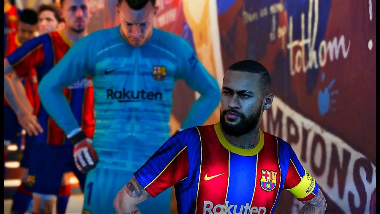 Barcelona 2021 vs PSG 2021| New kits PES 2020 | Neymar vs ...