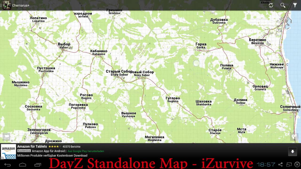 dayz standalone map izurvive android app youtube