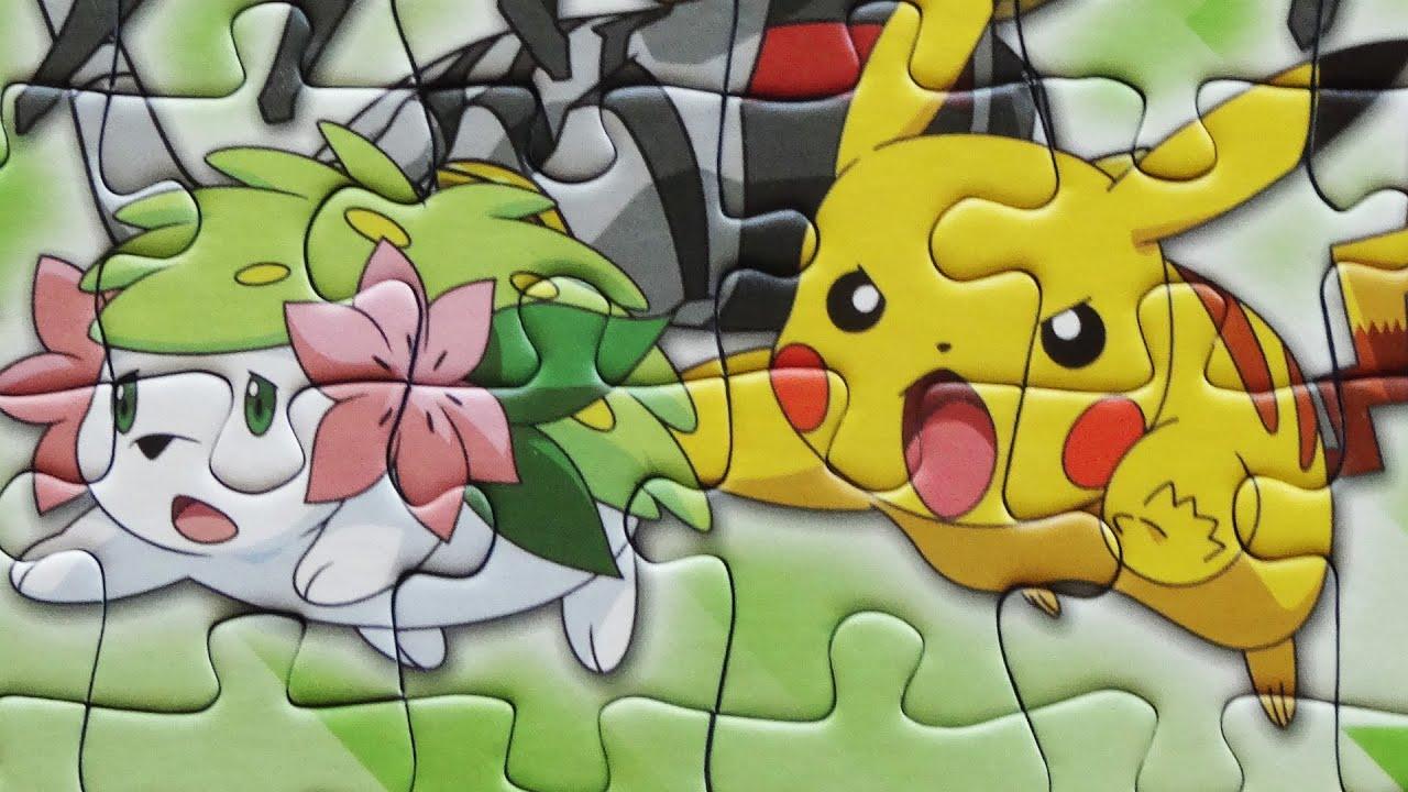 Uncategorized Pokemon Jigsaw Puzzle pokemon jigsaw puzzle games kids learning toys nintendo pikachu shaymin 49 pieces puzzles youtube