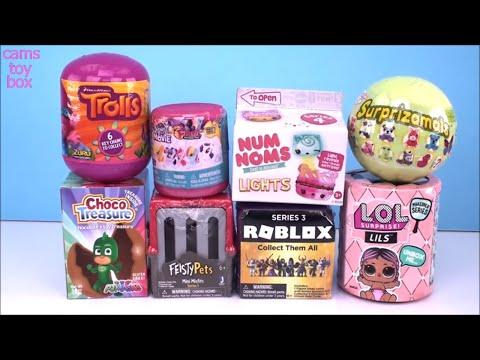 Feisty Pets LOL LILS Num Noms Lights Easter Surprizamals Unboxing ROBLOX Toy Surprises
