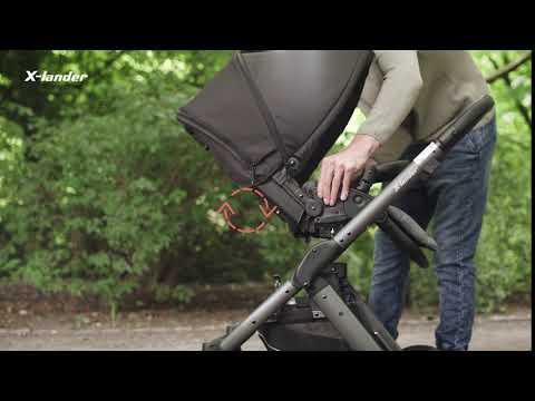 Детская коляска X-Pulse Evening Grey. Видео №3