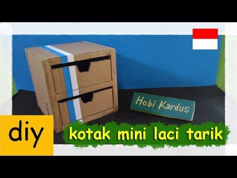 Cara Membuat Kotak Mini Laci Tarik Dari Kardus Youtube