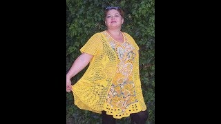 Филейное Вязание Крючком - Туники для Полных - 2018 / Knit Crochet Knitting Pattern for Full