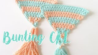 First video in my latest crochet-a-long (CAL) for my Summer Bunting! There will be 9 tutorials in total, 8 triangle patterns and 1 finishing pattern. Today's tutorial is ...