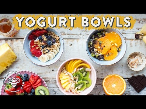 3 Healthy YOGURT BOWLS with Dual Action