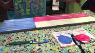 Painting Time Lapse, Texas Flag