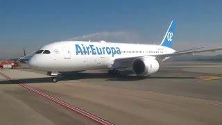 Llegada primer Boeing 787 de Air Europa a Madrid