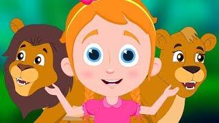 Jungle Lion's Bride | Schoolies Cartoons | Songs For Children - Kids Channel