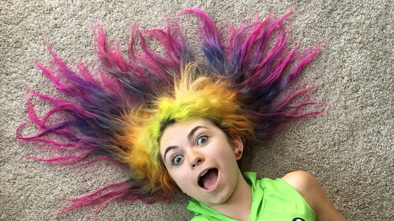 rainbow girl hair styles - 8 years