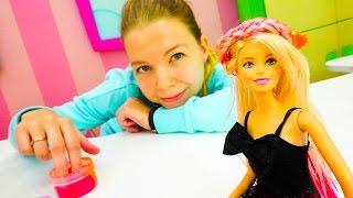 Куклы Барби - Пальчиковые краски и красивые прически.