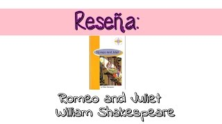 Reseña: Romeo and Juliet - William Shakespeare